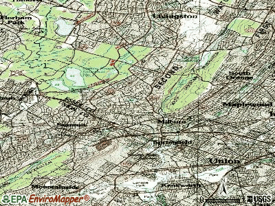 Millburn topographic map