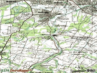 Millstone topographic map