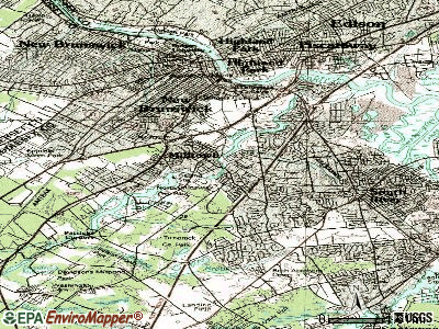 Milltown topographic map