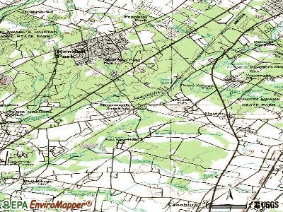 Monmouth Junction topographic map