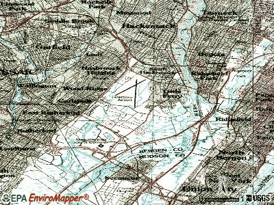 Moonachie topographic map