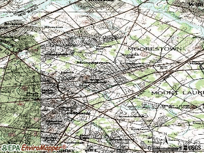 Moorestown-Lenola topographic map