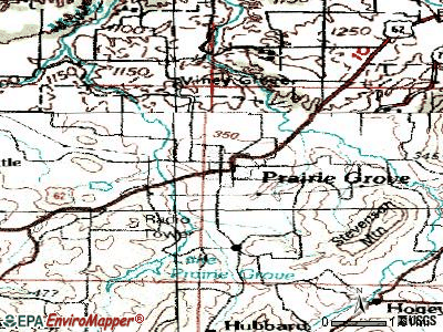 Prairie Grove topographic map