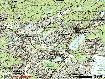 Mountain Lakes topographic map