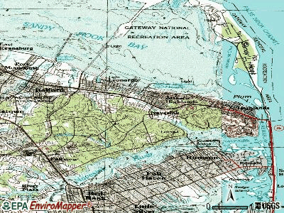 Navesink topographic map
