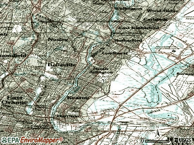 North Arlington topographic map