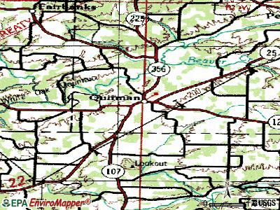 Quitman topographic map