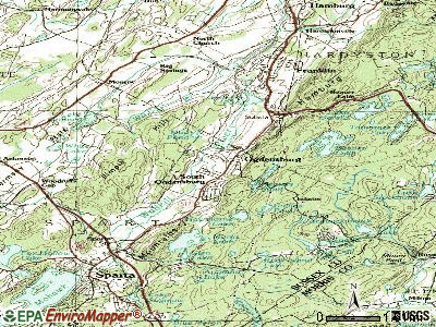 Ogdensburg topographic map