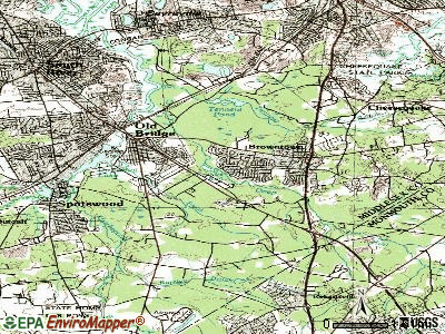 Old Bridge topographic map