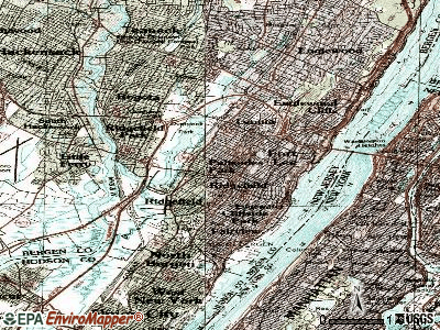 Palisades Park topographic map