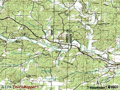 Ravenden topographic map
