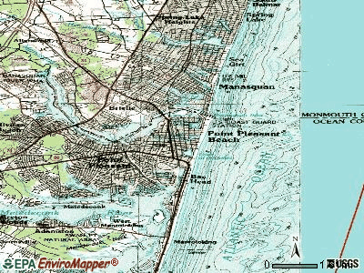 Point Pleasant Beach topographic map