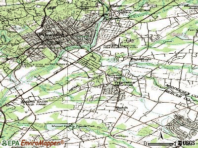 Princeton Junction topographic map