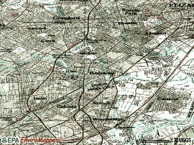 Rahway topographic map