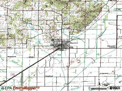 Rector topographic map