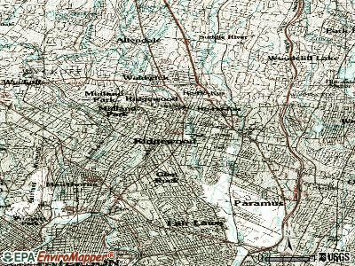 Ridgewood topographic map