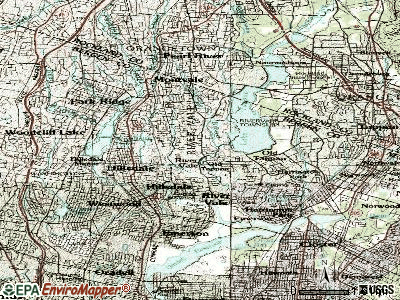 River Vale topographic map