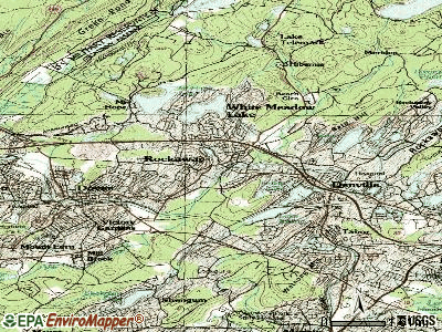 Rockaway topographic map