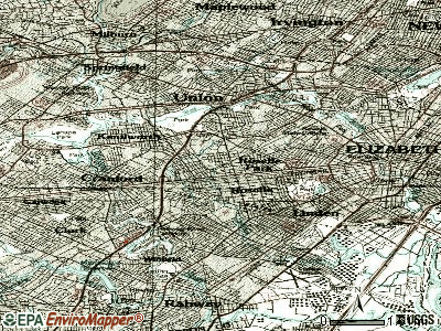 Roselle Park topographic map