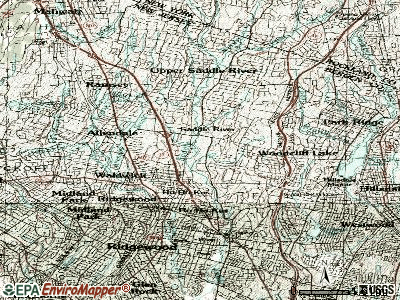 Saddle River topographic map