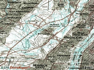 Secaucus topographic map