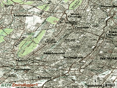 South Orange topographic map