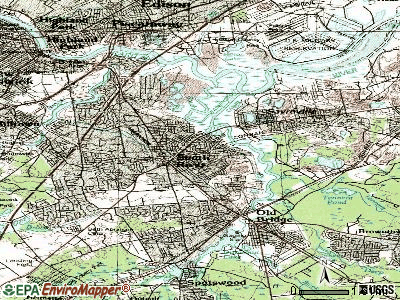 South River topographic map