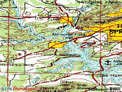 Rockwell topographic map
