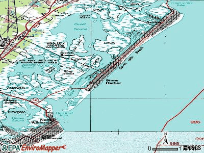 Stone Harbor topographic map