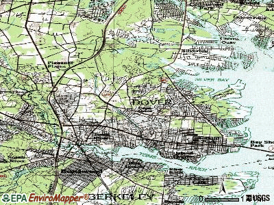 Toms River topographic map