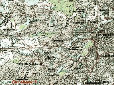 Totowa topographic map