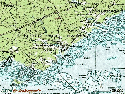 Tuckerton topographic map