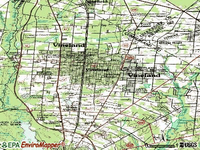 Vineland topographic map