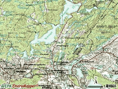 Wanaque topographic map