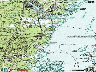 Waretown topographic map
