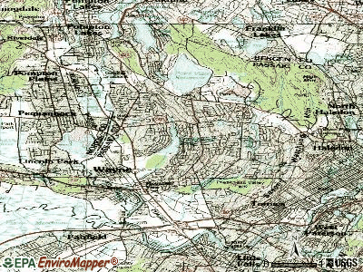 Wayne topographic map