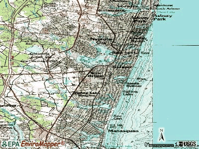 West Belmar topographic map