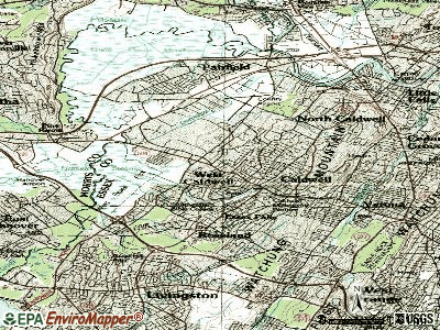 West Caldwell topographic map