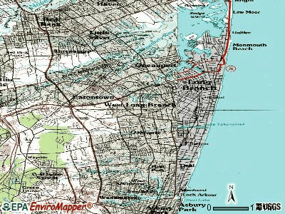 West Long Branch topographic map