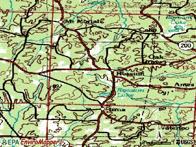 Rosston topographic map