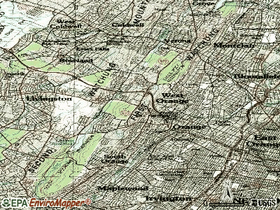 West Orange topographic map