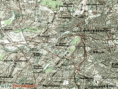 West Paterson topographic map