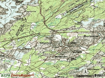 Wharton topographic map