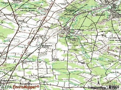 Whittingham topographic map