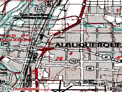 Albuquerque topographic map