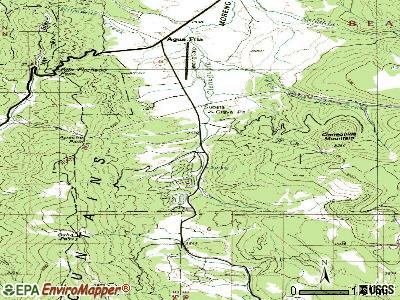Angel Fire topographic map