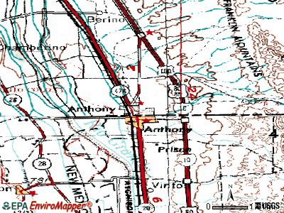 Anthony topographic map