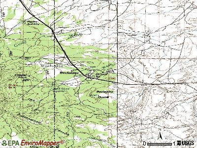 Beclabito topographic map