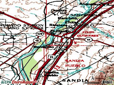 Bernalillo topographic map