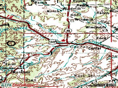 Capitan topographic map